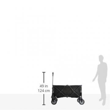 10T Foldy Trolley XXL Bollerwagen bis 50 kg Strandwagen mit Bremse faltbarer Handwagen Kinderwagen inkl. Einlegeboden Zugstange mit Rund-Griff und Transport-Tasche - 5