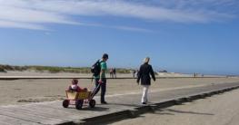 Bollerwagen an der Nordsee wegen geringem Gewicht