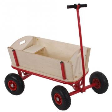 mendler holz bollerwagen oliveira mit sitz bremse und dach pirat. Black Bedroom Furniture Sets. Home Design Ideas