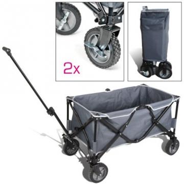 bremermann® Bollerwagen, Handwagen, Einkaufswagen, faltbar, grau - 1