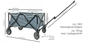 bremermann® Bollerwagen, Handwagen, Einkaufswagen, faltbar, grau - 3