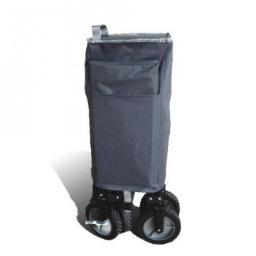 bremermann® Bollerwagen, Handwagen, Einkaufswagen, faltbar, grau - 4