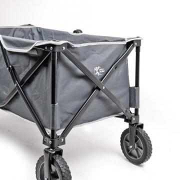 bremermann® Bollerwagen, Handwagen, Einkaufswagen, faltbar, grau - 8