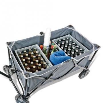 bremermann® Bollerwagen, Handwagen, Einkaufswagen, faltbar, grau - 9