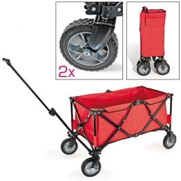bremermann® Bollerwagen, Handwagen, Einkaufswagen, faltbar, rot - 1