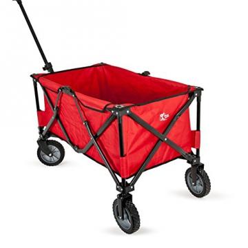 bremermann® Bollerwagen, Handwagen, Einkaufswagen, faltbar, rot - 2