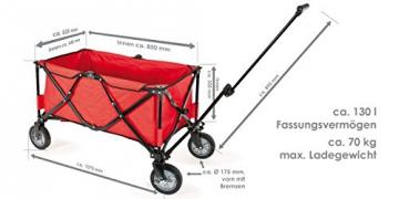 bremermann® Bollerwagen, Handwagen, Einkaufswagen, faltbar, rot - 3