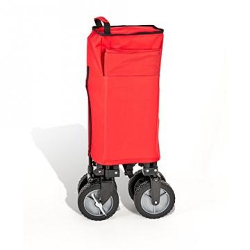 bremermann® Bollerwagen, Handwagen, Einkaufswagen, faltbar, rot - 4