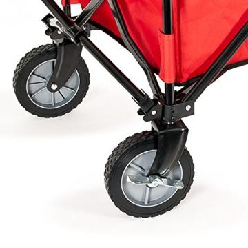 bremermann® Bollerwagen, Handwagen, Einkaufswagen, faltbar, rot - 5