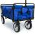 Deuba Bollerwagen faltbar bis 100kg 360° Vollgummireifen