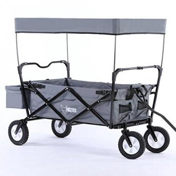 fuxtec jw 76c bollerwagen faltbar mit dach. Black Bedroom Furniture Sets. Home Design Ideas