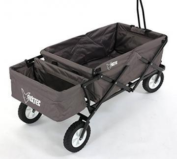 fuxtec bollerwagen klappbar grau jw 76. Black Bedroom Furniture Sets. Home Design Ideas