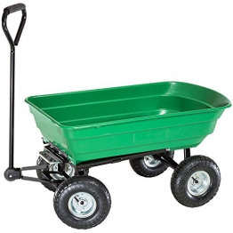 TecTake® Bollerwagen kippbar Kippwagen Transportkarre Gerätewagen belastar bis 300kg - 1
