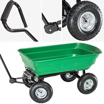 TecTake® Bollerwagen kippbar Kippwagen Transportkarre Gerätewagen belastar bis 300kg - 2