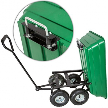 TecTake® Bollerwagen kippbar Kippwagen Transportkarre Gerätewagen belastar bis 300kg - 5